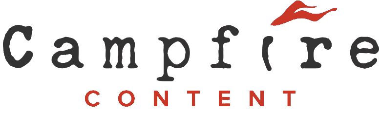 campfire logo with flame